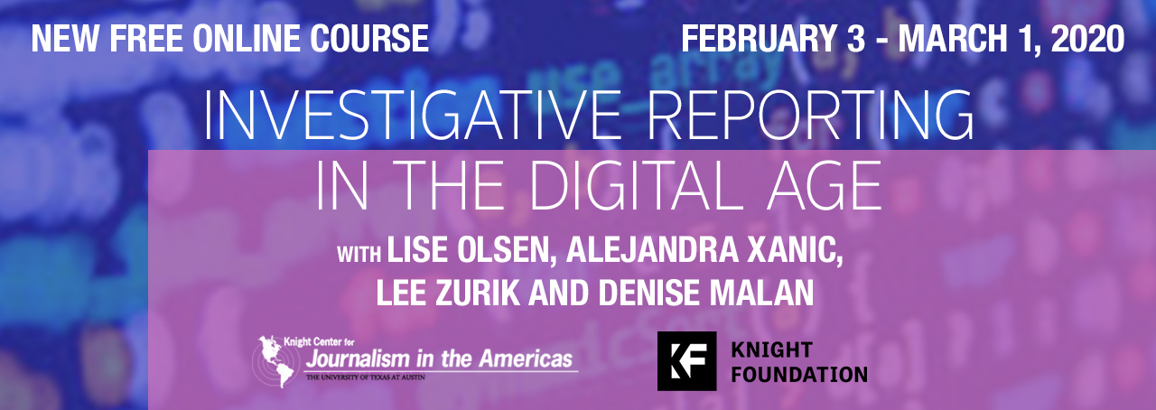 Investigative Reporting MOOC