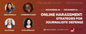 IWMF Online Harassment MOOC