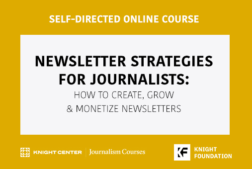 Banner for newsletter course