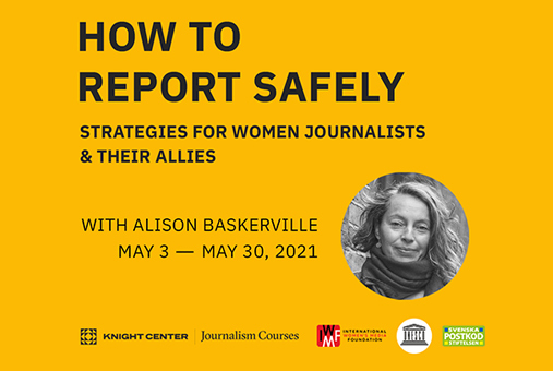 Banner for self-directed How to report safely course